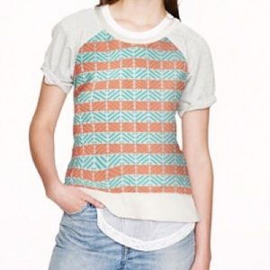 J. Crew paneled short sleeve sweatshirt